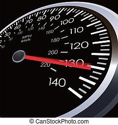 coche, velocidad, metro