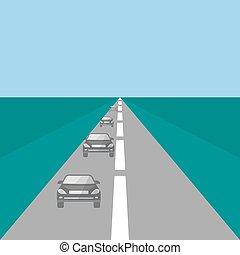 Coches en una autopista