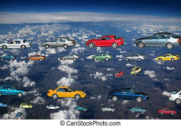 coches, vuelo