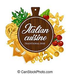 cocina, casero, cocina, italiano, pastas