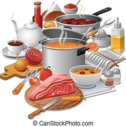 cocina, comida
