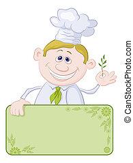 Cocina con afiche y especias