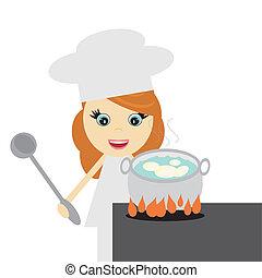 Cocina con papas