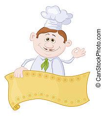 Cocina con poster
