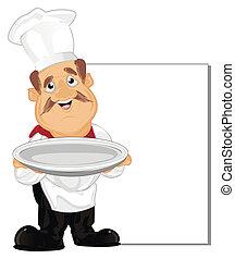 Cocina feliz con plato