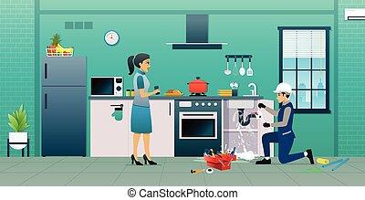 cocina, reparación