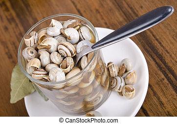 cocina, snails:, español