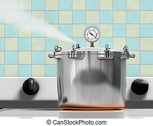 Cocinadora de presión