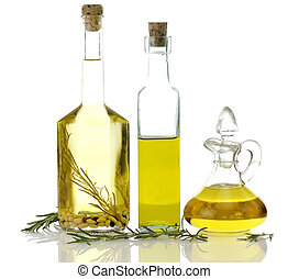 Cocinando botellas de aceite