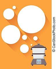 Cocinando burbujas de vapor ilustraciones