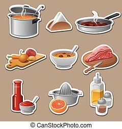 Cocinando calcomanías