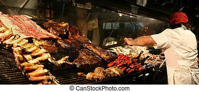 Cocinando carne