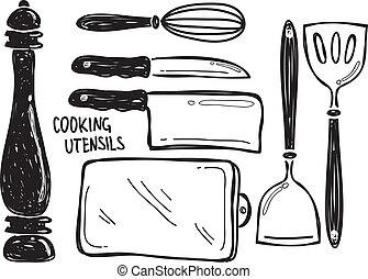 Cocinando utensilio