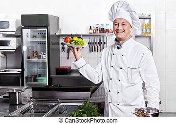 Cocinar en uniforme