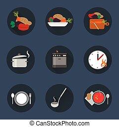 Cocinar icono de proceso.
