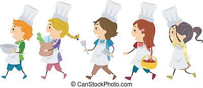 Cocinar niños