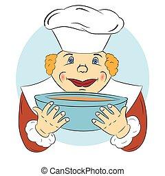 Cocinera alegre