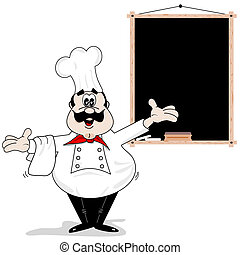 Cocinero de cartón