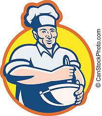 Cocinero de cocina con retrococinero
