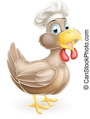 Cocinero de pollo Cartoon