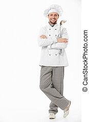 Cocinero sonriente