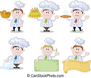 Cocineros de caricaturas, chefs