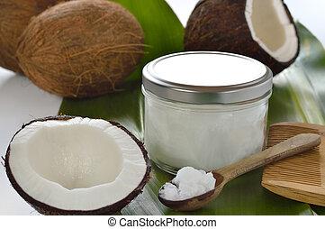 cocos, coco, aceite, orgánico