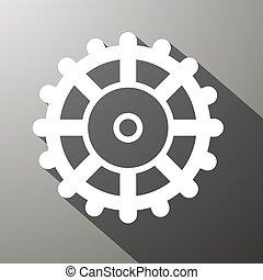 Cog icono, ilustración de equipos. El símbolo de la tecnología del vector.
