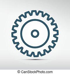 Cog - vector icono