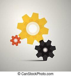 Cogs, engranajes. Icono cogno Vector. El símbolo de engranaje.