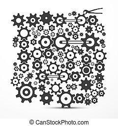 Cogs - engranajes. Vector engranaje, símbolo de engranaje.