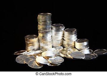 coins, plata