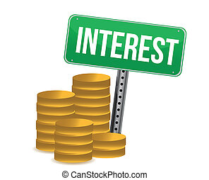 coins, verde, interés, señal