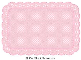 Colóquelo con encaje rosado