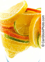 Cola de lima, limón, mandarina, naranja