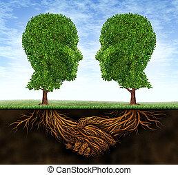 colaboración, crecimiento, empresa / negocio