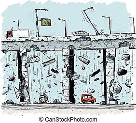 Colapso de autopista elevado