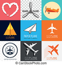 Colección de aviones Vector
