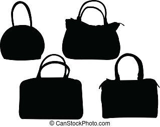 Colección de bolsos, vector