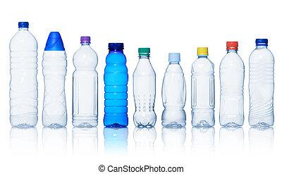 Colección de botellas de agua