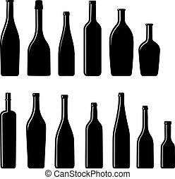 Colección de botellas de Silueta