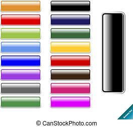 Colección de botones de Internet de colores. Fácil de editar, de cualquier tamaño, aqua Web 2.0 estilo.