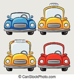Colección de coches de dibujos animados