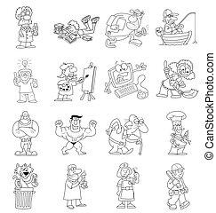 Colección de dibujos animados