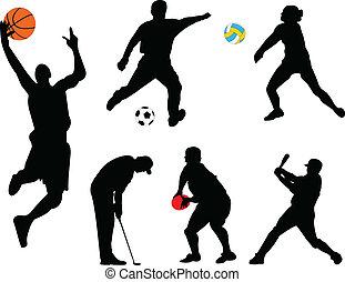 Colección de diferentes deportes