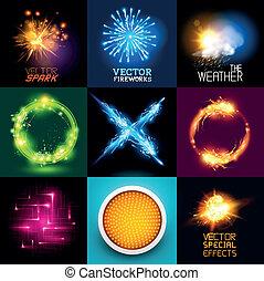 Colección de efectos de luz Vector