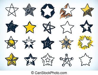 Colección de estrellas a mano