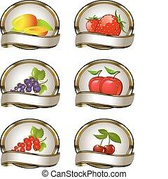 Colección de etiquetas para frutas