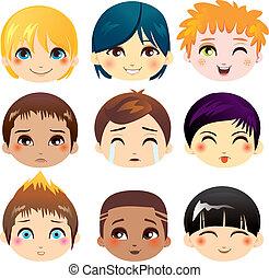 Colección de expresiones faciales