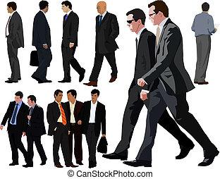 Colección de hombres de negocios